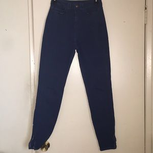 American Apparel skinny ankle jeans